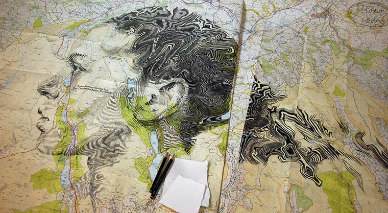 Portraits Made From Maps