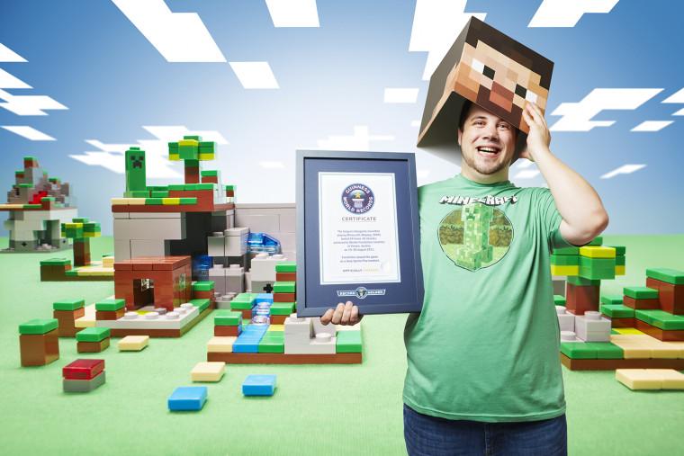 Martin Fornleitner - Longest Videogame Marathon On Minecraft Guinness World Records 2015 Photo Credit: Paul Michael Hughes/Guinness World Records