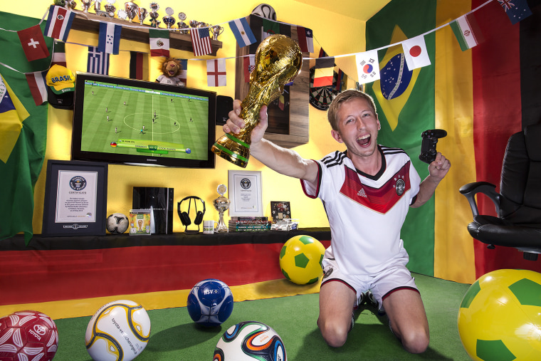 Patrick Hadler - Highest Score On FIFA World Cup 2014 Guinness World Records 2014 Photo Credit: Richard Bradbury/Guinness World Records