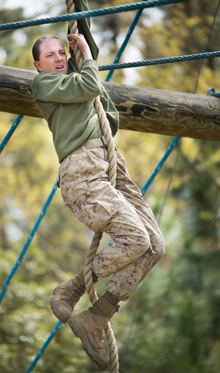 Marine recruits face challenging obstacles on Parris Island