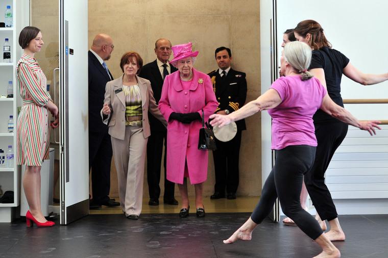 Image: The Queen And Duke Of Edinburgh Visit Rambert, South Bank