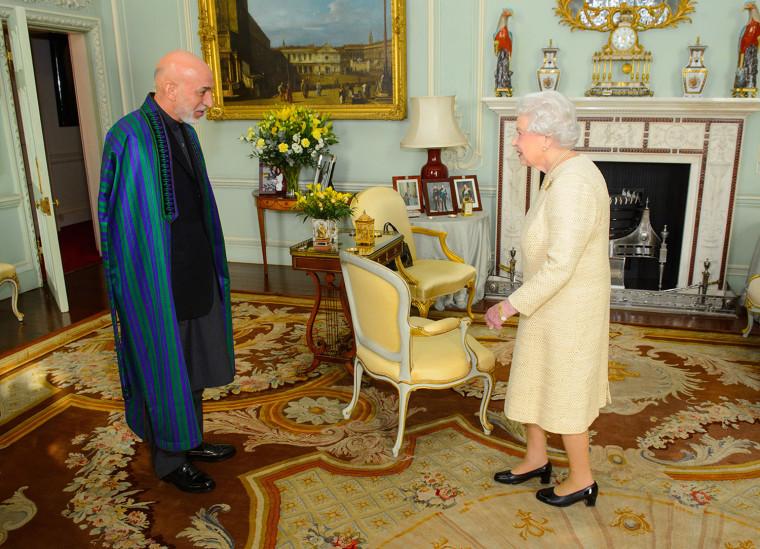 The President of Afghanistan Meets With Queen Elizabeth II