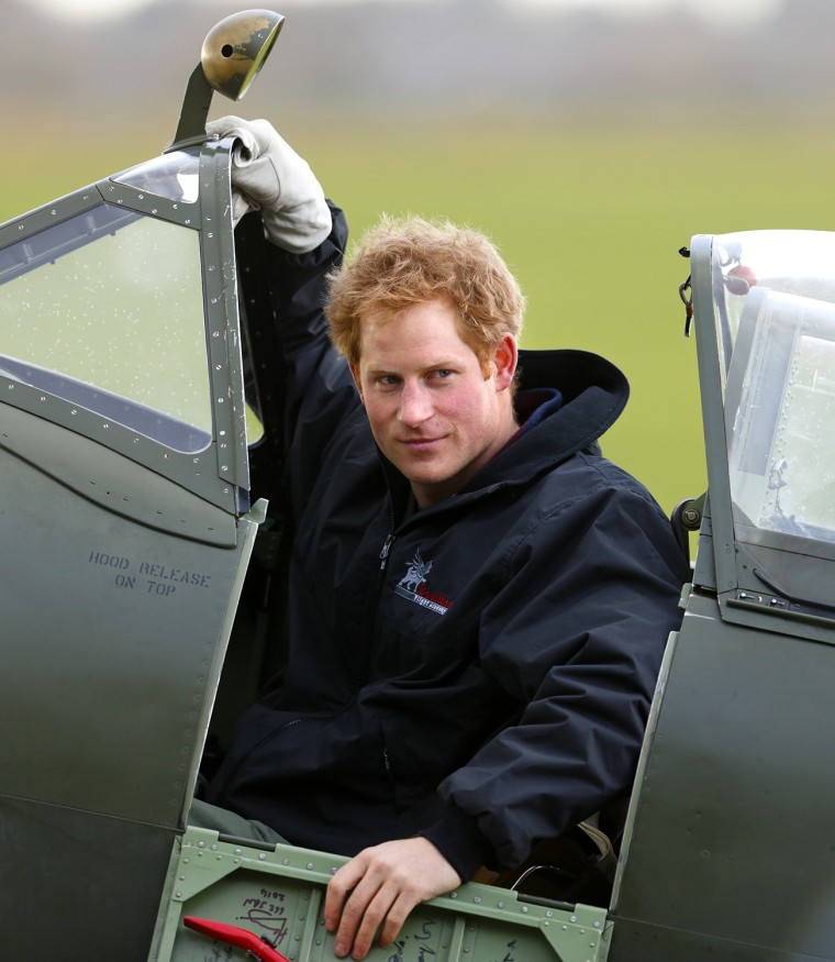 Image: Prince Harry Attends A Track Day For The Royal Foundation Endeavour Fund & Visits Boultbee Flight Academy