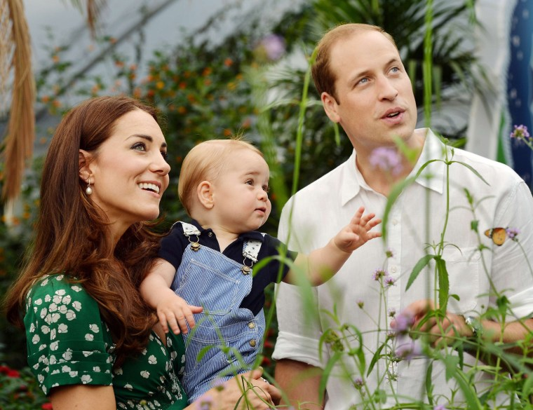 Image: TOPSHOTS-BRITAIN-ROYALS-GEORGE-BIRTHDAY-MESSAGE-FAMILY