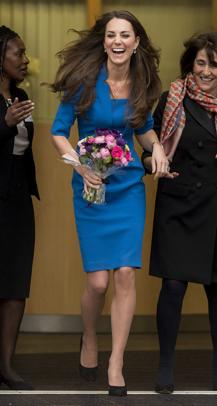 Image: The Duchess Of Cambridge Attends The ICAP Art Room Opening At Northolt High School