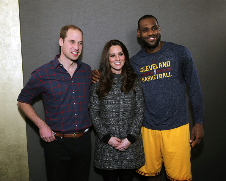Image: The Duke And Duchess Of Cambridge Attend Cleveland Cavaliers v Brooklyn Nets