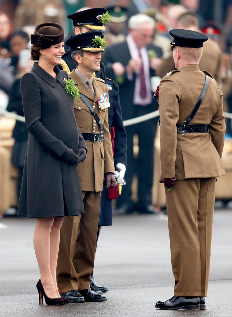 Image: The Duke And Duchess Of Cambridge Attend St Patrick's Day Parade At Mons Barracks