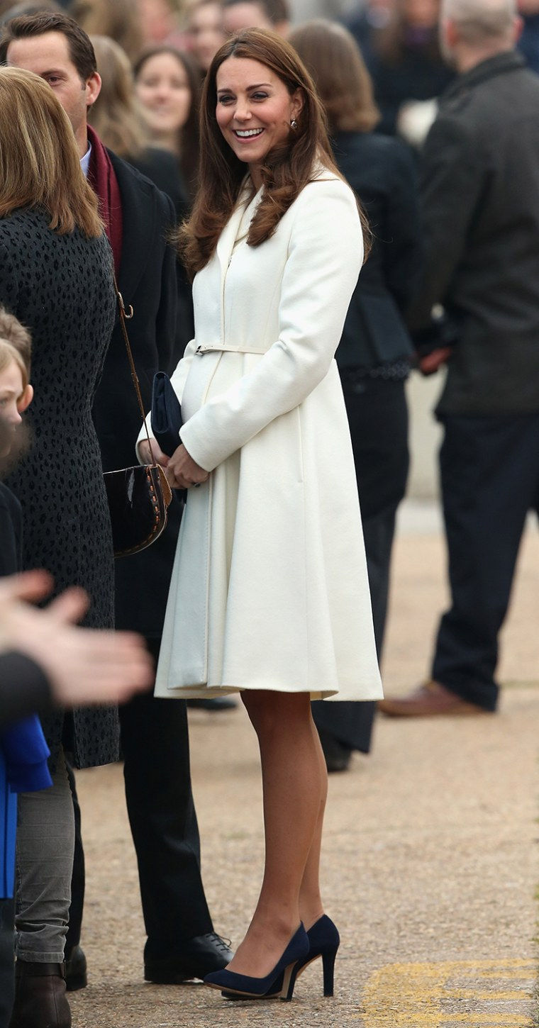 Image: The Duchess Of Cambridge Visits Portsmouth