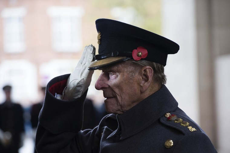 Prince Phillip, The Duke of Edinburgh attending the Last Post ceremony