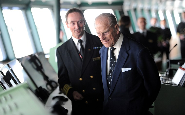 The Duke Of Edinburgh Visits Cunard's Queen Mary 2