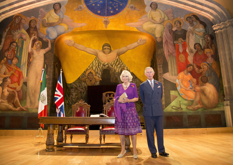 Prince Charles and Camilla Duchess of Cornwall official visit to Mexico - 03 Nov 2014