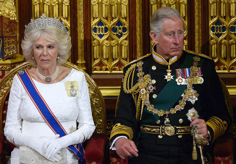 Image: Britain's Prince Charles, and Camilla, Duchess of Cornwall listen as Queen Elizabeth delivers the Queen's Speech in the House of Lords, during the State Opening of Parliament at the Palace of Westminster in London
