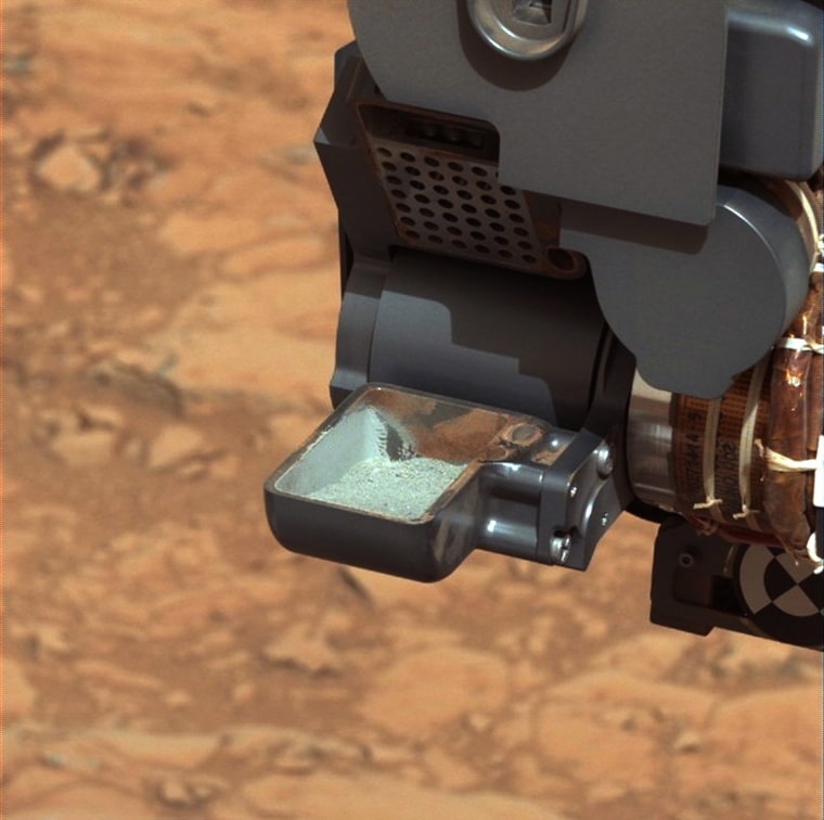 Image: Curiosity's First Sample Drilling