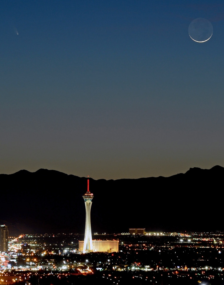 Image: PanSTARRS Comet Over Las Vegas