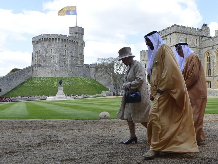 Image: BRITAIN-UAE-ROYALS-DIPLOMACY