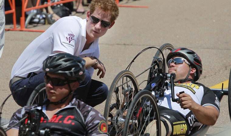 Image: Prince Harry attends the Warrior Games at the United State Air Force Academy.