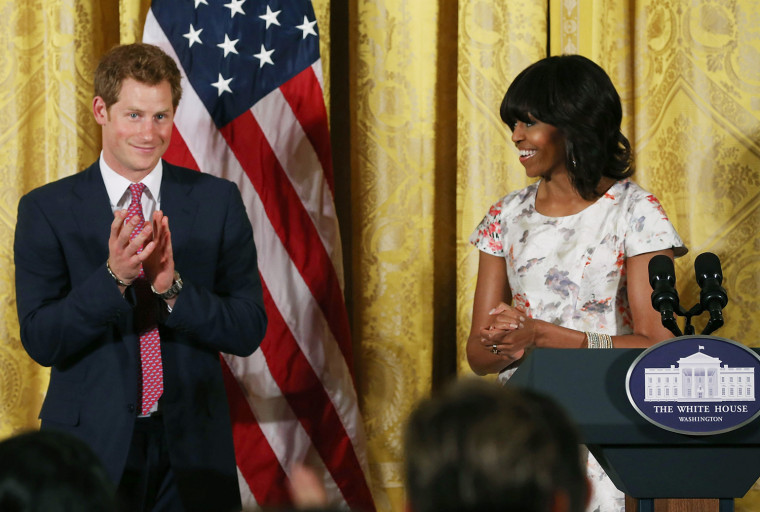 Image: Prince Harry Joins Michelle Obama And Jill Biden Honor Military Mothers At White House