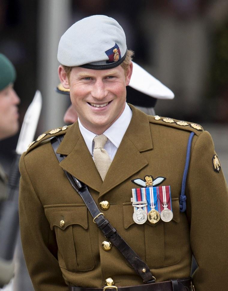 Image: Prince Harry Visits The Royal Marines Tamar
