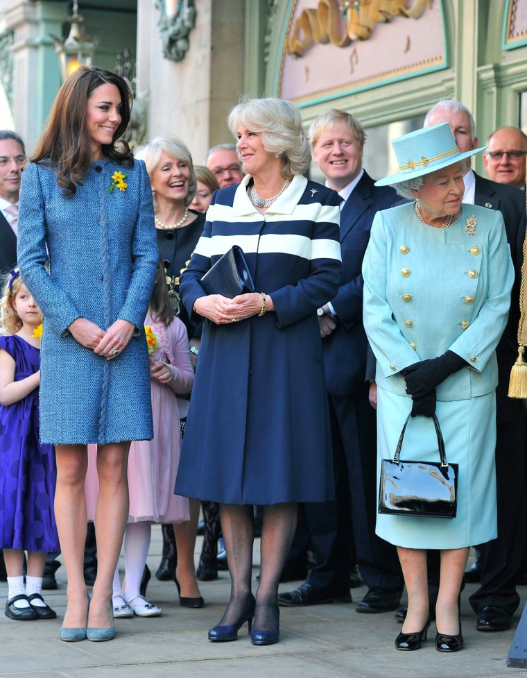 Image: Queen Elizabeth II, Camilla, Duchess Of Cornwall And Catherine, Duchess Of Cambridge Visit Fortnum & Mason Store
