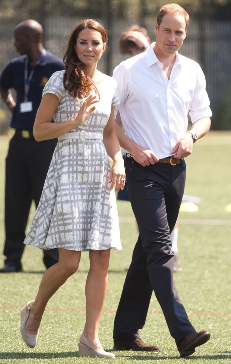 Image: The Duke And Duchess Of Cambridge And Prince Harry Visit Bacon's College