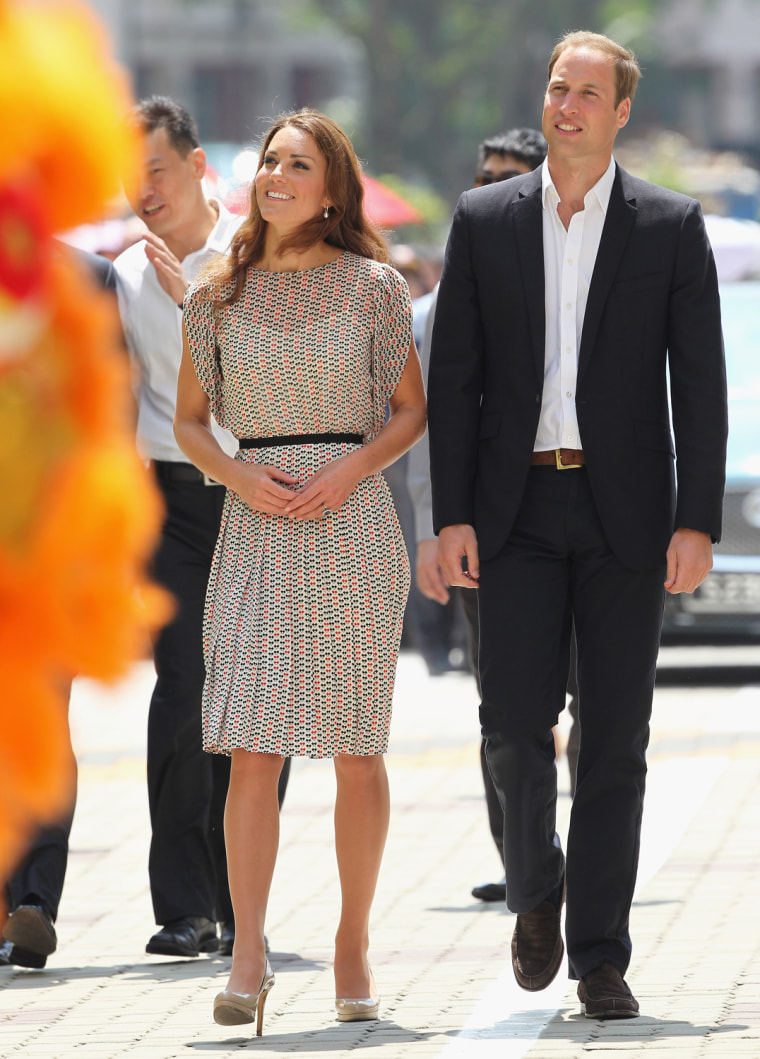Image: The Duke And Duchess Of Cambridge Diamond Jubilee Tour - Day 2