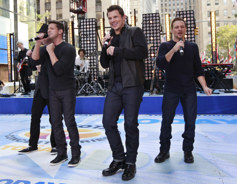 Image: The band 98 Degrees performs on NBC's 'Today' show in New York