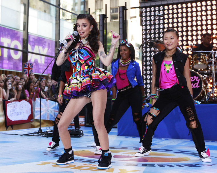 Image: British singer Cher Lloyd performs on NBC's 'Today' show in New York