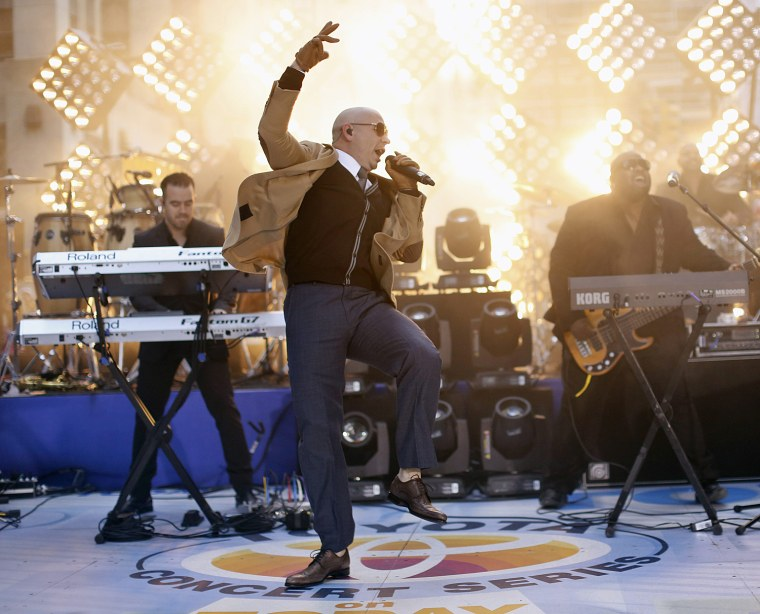 Image: Singer Pitbull performs on NBC's Today show in New York