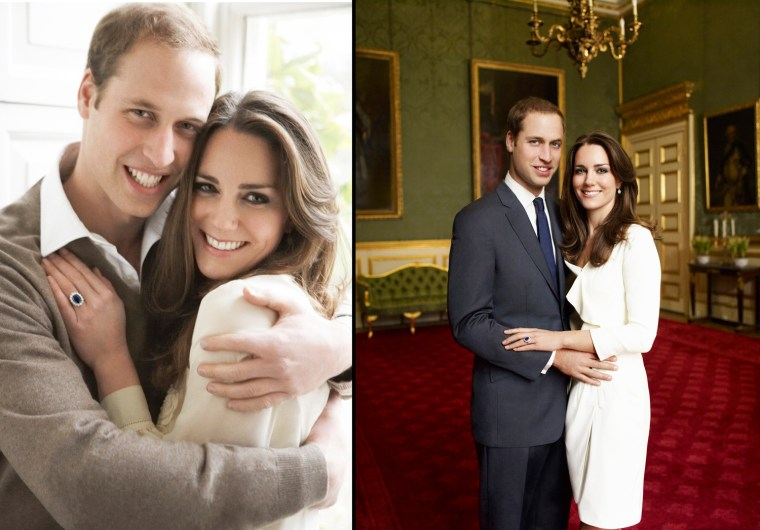 Britain's Prince William and Kate Middleton pose in one of two official engagement portraits, taken by photographer Mario Testino in the Cornwall Room at St James's Palace in London on November 25, 2010. The prince and his fiancee, Catherine Middleton, are to get married next year, the Buckingham Palace said last month. REUTERS/Copyright 2010 Mario Testino  MANDATORY CREDIT    (BRITAIN - Tags: ROYALS SOCIETY ENTERTAINMENT IMAGES OF THE DAY) NO COMMERCIAL OR BOOK SALES. NO SALES. NO ARCHIVES. FOR EDITORIAL USE ONLY. NOT FOR SALE FOR MARKETING OR ADVERTISING CAMPAIGNS. THIS IMAGE HAS BEEN SUPPLIED BY A THIRD PARTY. IT IS DISTRIBUTED, EXACTLY AS RECEIVED BY REUTERS, AS A SERVICE TO CLIENTS. NO THIRD PARTY SALES. NOT FOR USE BY REUTERS THIRD PARTY DISTRIBUTORS. NO COMMERCIAL USE
