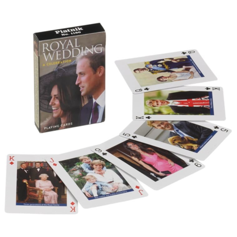 Royal Wedding Playing Cards 'Get a royal flush whilst you celebrate the royal wedding with these playing cards; decorated with pictures of the happy couple-to-be.'