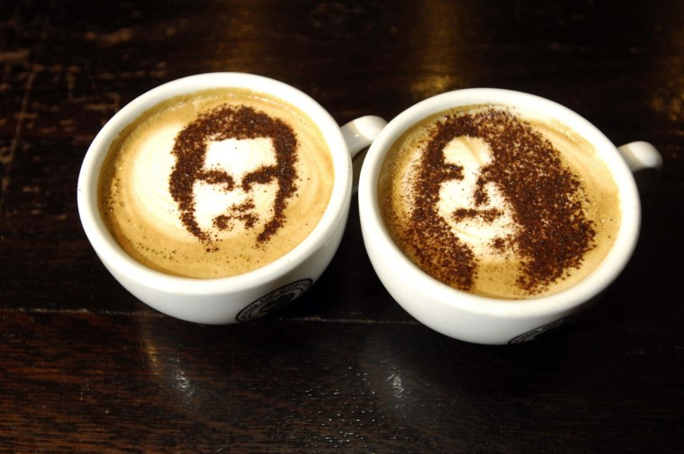 Commemorative Royal wedding cups of coffee
