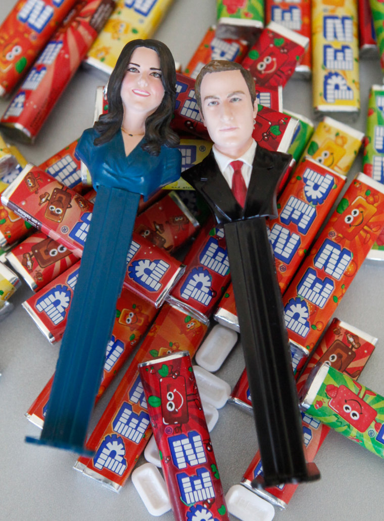 Image: Pez dispensers to celebrate the wedding of Britain's Prince William and Kate Middleton