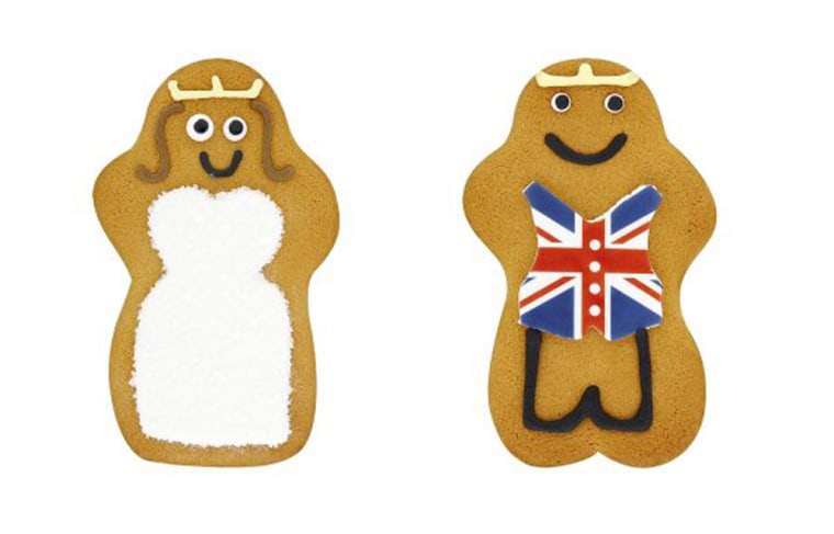 In store from 29th March, your very own royal bride and groom! Our gingerbread bride wears an elegant wedding dress and traditional tiara while our groom has gone truly patriotic with a Union Jack waistcoat.   Perfect for street parties and celebration picnics or as cute favours for couples sharing the royal weekend.  The new Waitrose Royal Gingerbread Bride & Groom are available in Waitrose branches, priced 99p.