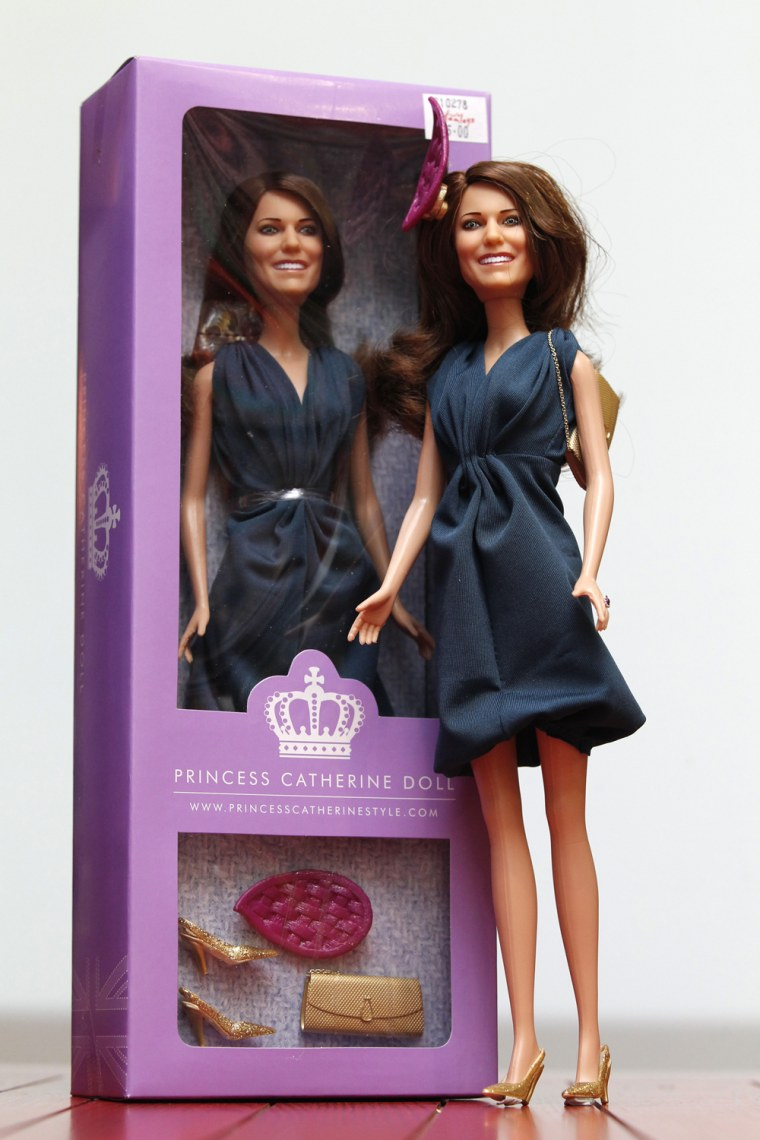 Image: The Limited Edition Princess Catherine Engagement Doll is pictured during its launch at Hamleys toy shop in London