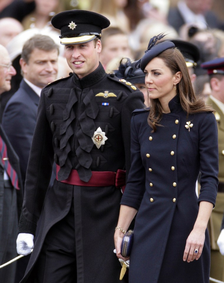 Image: The Duke And Duchess Of Cambridge Attend The Irish Guards Medal Parade