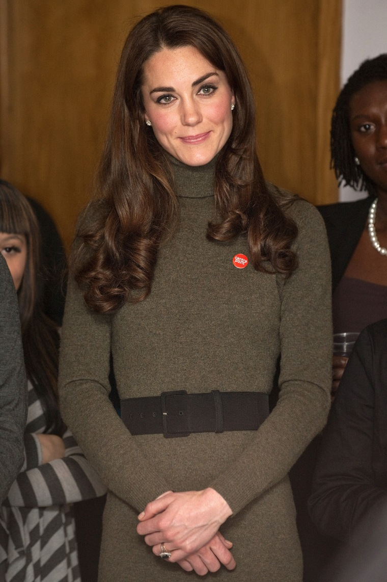 Image: Britain's Catherine,  Duchess of Cambridge watches a performance at Centrepoint's Camberwell Foyer in London