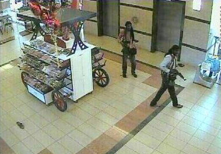 ImagE: Closed circuit television captures terrorists inside Westgate mall.