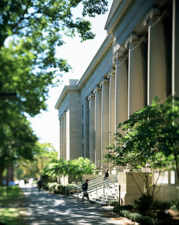 This undated photo released by the Harvard Law School shows Langdell Hall at Harvard Law School in Cambridge, Mass. (AP Photo/ Harvard Law School) ** NO SALES **