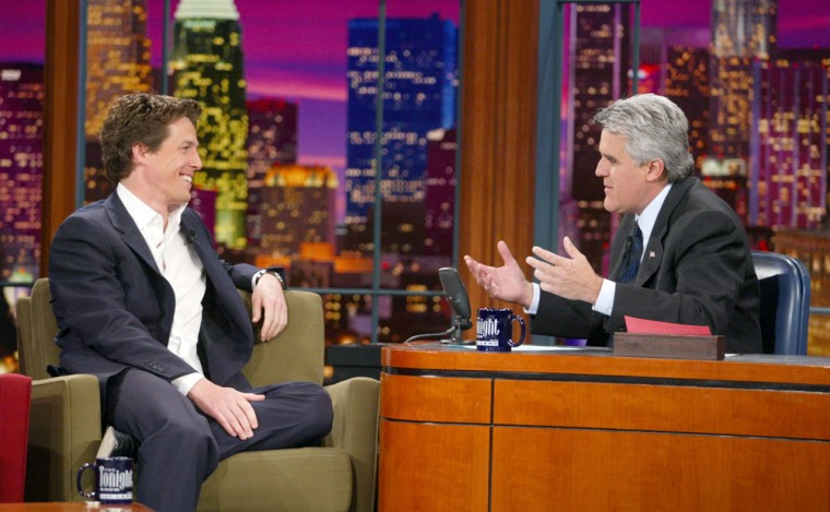 """Hugh Grant appeared on at """"The Tonight Show"""" shortly after being arrested for soliciting Hollywood prostitute Divine Brown in 1995. Leno famously asked the actor, """"What were you thinking?"""""""