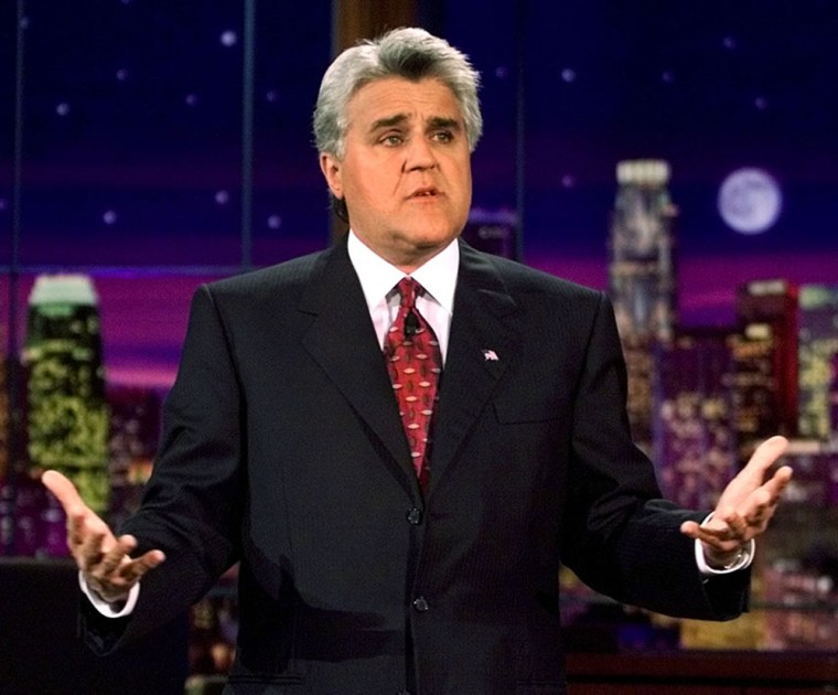 """Leno spoke to the audience in lieu of his regular monologue during the taping of """"The Tonight Show"""" on Tuesday, Sept. 18, 2001. This was the first show to be telecast after the Sept. 11 attacks."""
