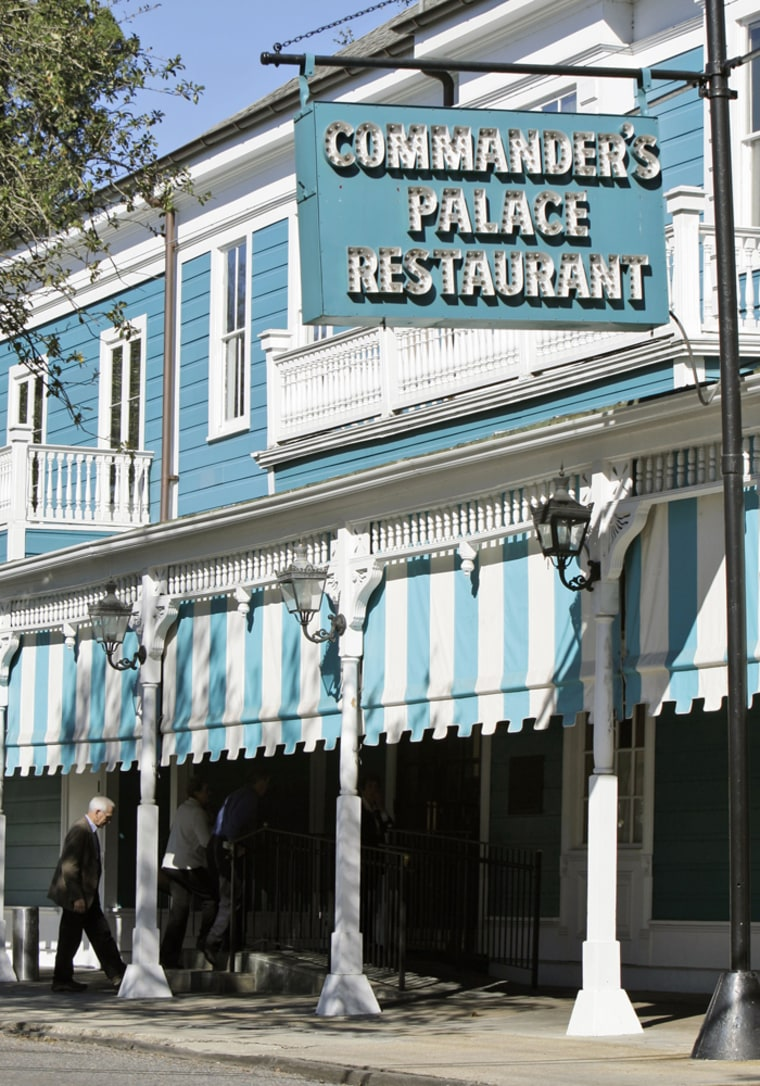 Commander's Palace, a landmark restaurant in New Orleans known for its haute Creole cuisine and whimsical Louisiana charm, was damaged by Hurricane Katrina in 2005. The restaurant reopened for business in 2006 after an $8.5 million renovation.