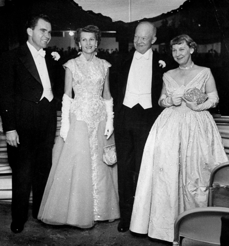 Dwight And Mamie Eisenhower And Richard And Pat Nixon