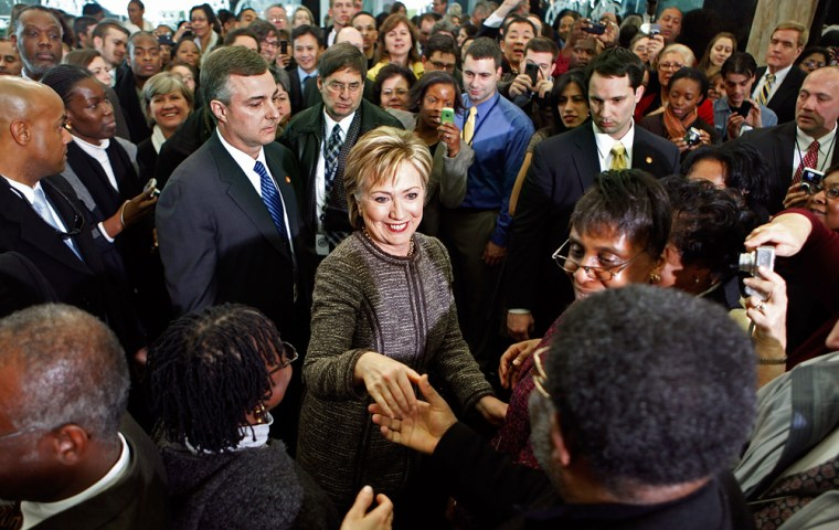 Hillary Clinton Is Welcomed At State Department
