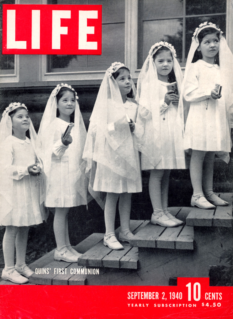 LIFE cover 09-02-1940 Dionne quintuplets First Communion