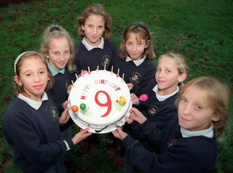 The Walton Sextuplets  on their ninth birthday   weby (Newscom TagID: mrpphotos211885)     [Photo via Newscom]