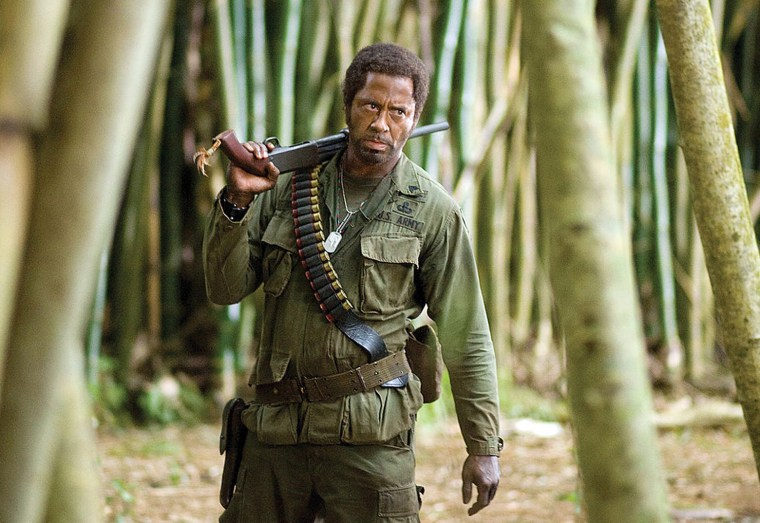 Tropic Thunder - -Kirk Lazarus (Robert Downey Jr.) is an Oscar-winning actor who will go to extreme lengths to get into character