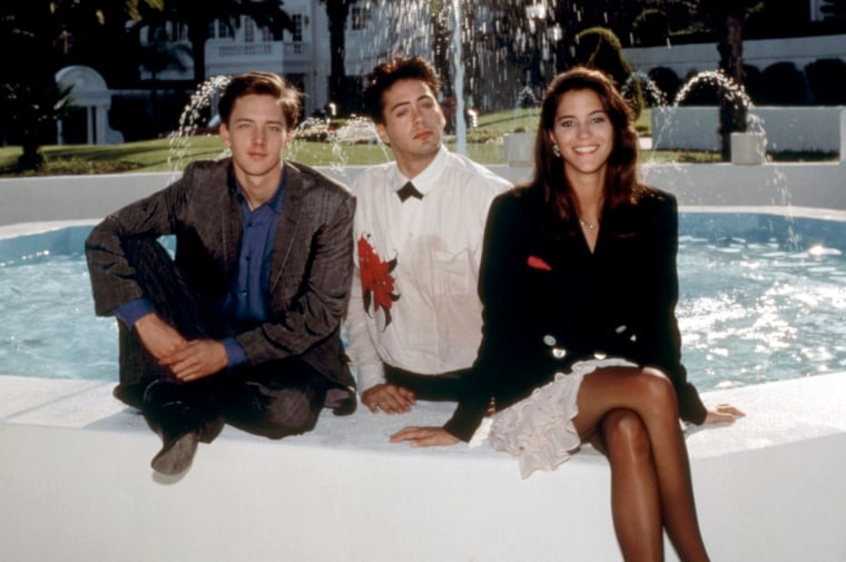 LESS THAN ZERO, Andrew McCarthy, Robert Downey Jr., Jami Gertz, 1987, TM and Copyright (c)20th Century Fox Film Corp. All rights reserved.