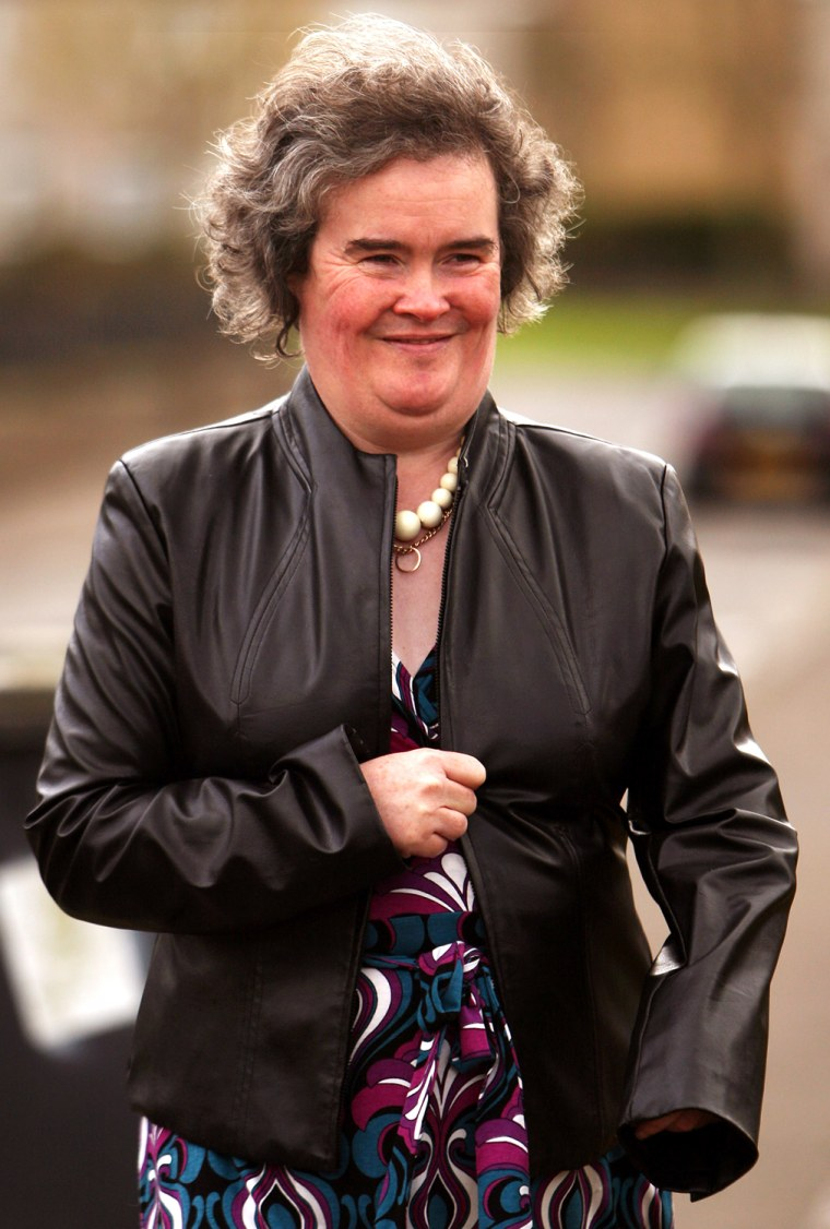 Susan Boyle Seen At Home After Her Recent Success On Britain's Got Talent