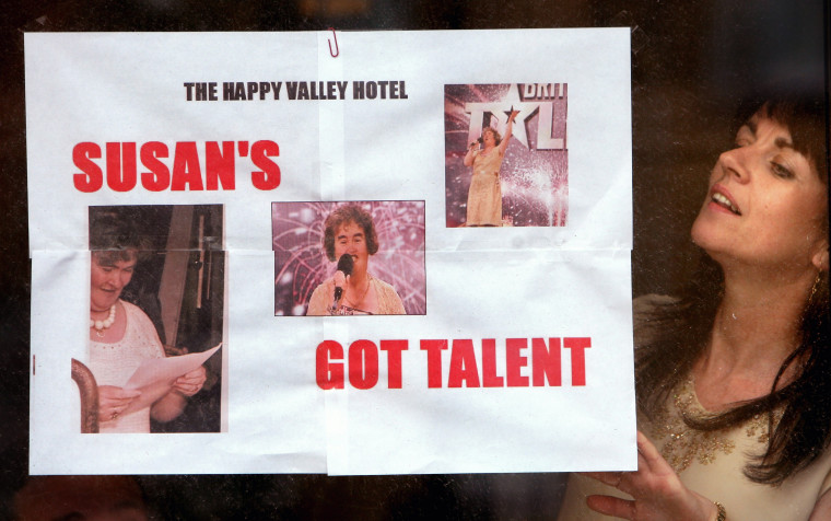 Town shows support for Britains Got Talent contestant Susan Boyle