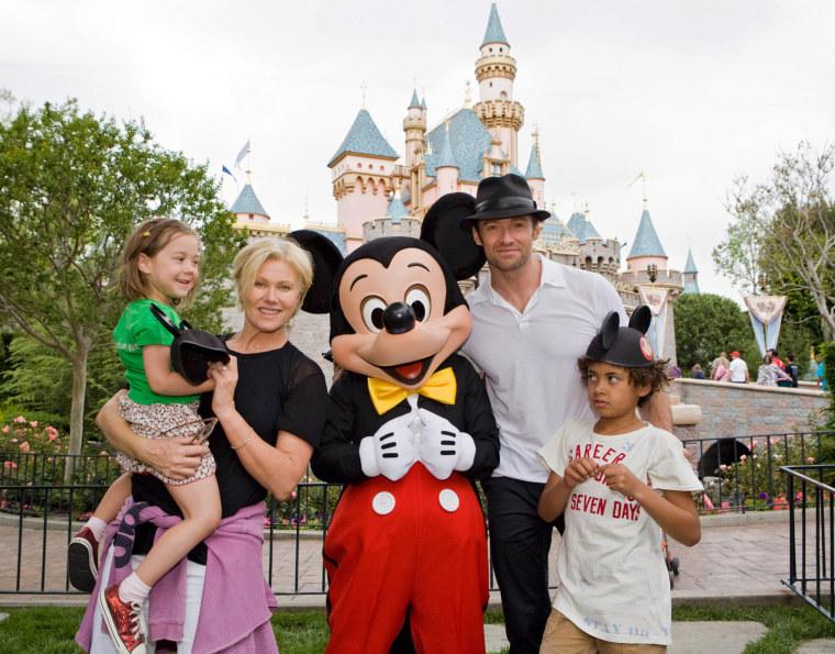 Hugh Jackman Visits Disneyland
